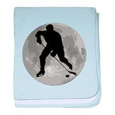 Hockey Player Moon baby blanket