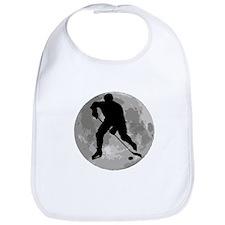 Hockey Player Moon Bib