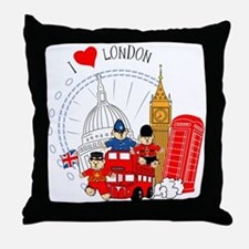 Bus tour Throw Pillow