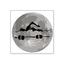 Swimmer Moon Sticker