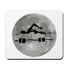 Swimmer Moon Mousepad