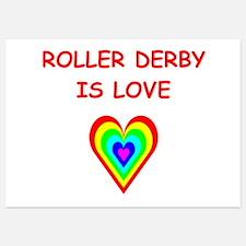 roller derby Invitations