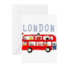 London Bus Greeting Cards (Pk of 10)