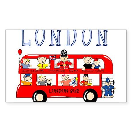 London Bus Rectangle Sticker
