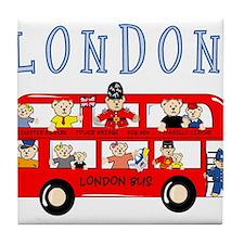 London Bus Tile Coaster