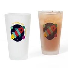 Infinity And Beyond Drinking Glass