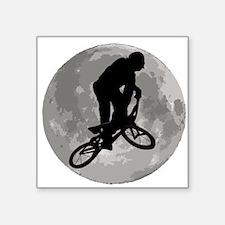 BMX Biker Moon Sticker