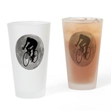 Cyclist Moon Drinking Glass