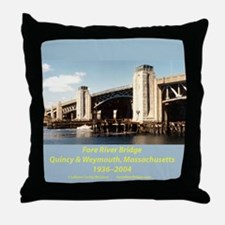 Fore River Bridge Throw Pillow