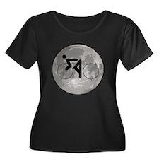 Cycling Moon Plus Size T-Shirt