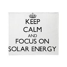 Keep Calm and focus on Solar Energy Throw Blanket