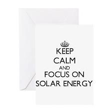 Keep Calm and focus on Solar Energy Greeting Cards