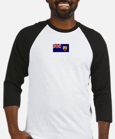 turks and caicos flag Baseball Jersey