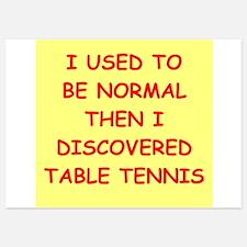 table tennis Invitations