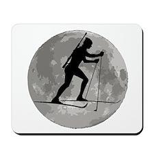 Biathlete Moon Mousepad