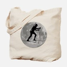 Biathlete Moon Tote Bag