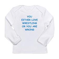 wrestling Long Sleeve Infant T-Shirt