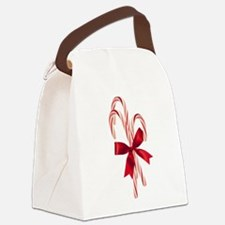 Candy Canes Canvas Lunch Bag