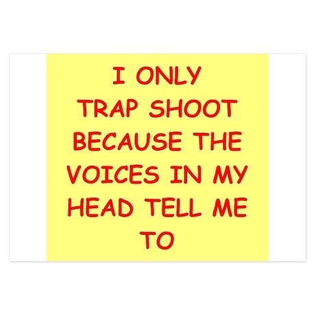 trap shooting 3.5 x 5 Flat Cards