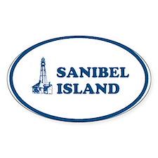 Sanibel Island Light House Oval Decal
