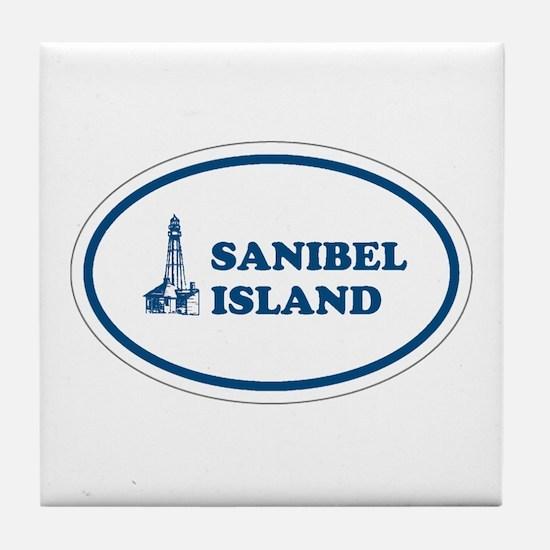 Sanibel Island Light House Tile Coaster