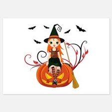 Pumpkin Witch- 5x7 Flat Cards