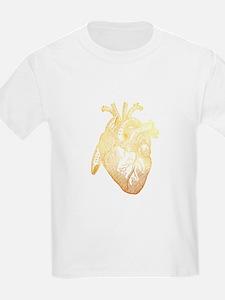 Anatomical Heart - Gold T-Shirt