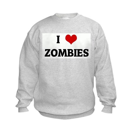 I Love ZOMBIES Kids Sweatshirt