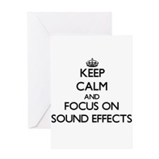 Keep Calm and focus on Sound Effect Greeting Cards