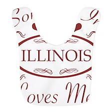 Somebody In Illinois Loves Me Bib