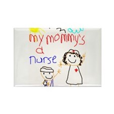 Nurse Mommy! Rectangle Magnet