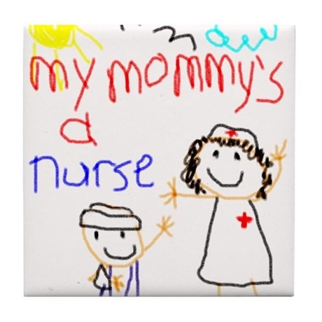 Nurse Mommy! Tile Coaster