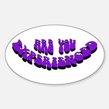 Are You Experienced Oval Decal