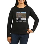 Ski Shooting Women's Long Sleeve Dark T-Shirt