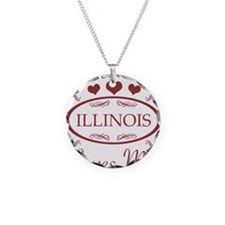 Somebody In Illinois Loves M Necklace