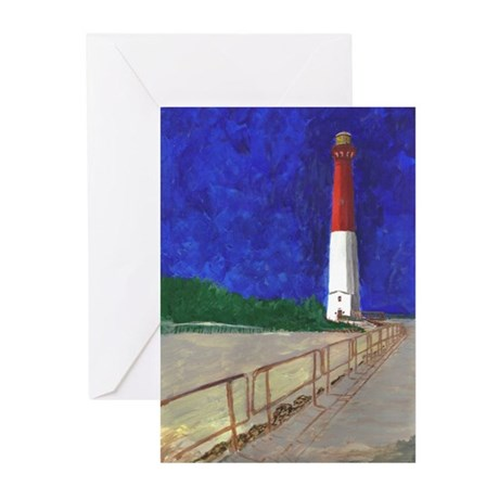 Old Barney Lighthouse Greeting Cards (Pk of 10)