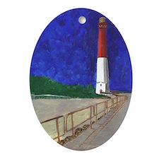 Old Barney Lighthouse Ornament (Oval)