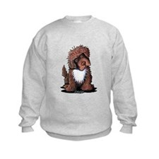 Brown & White Newfie Sweatshirt