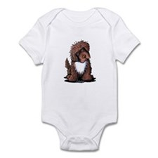 Brown & White Newfie Infant Bodysuit