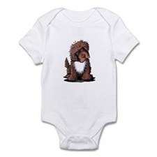 Brown & White Newfie Onesie