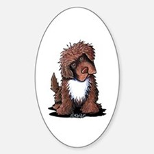 Brown & White Newfie Decal