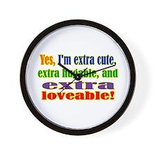 Yes, I'm extra Wall Clock