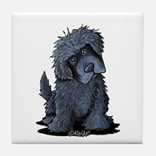Black Newfie Tile Coaster