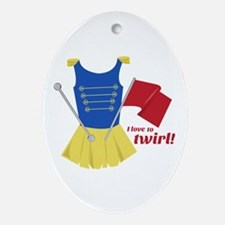 Love to Twirl Ornament (Oval)