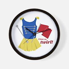 Love to Twirl Wall Clock