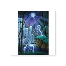 Unicorns in the Moonlight large poster Sticker