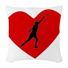 Shot Put Heart Woven Throw Pillow