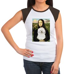 Mona and her Bolognese Women's Cap Sleeve T-Shirt