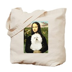 Mona and her Bolognese Tote Bag