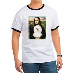 Mona and her Bolognese Ringer T